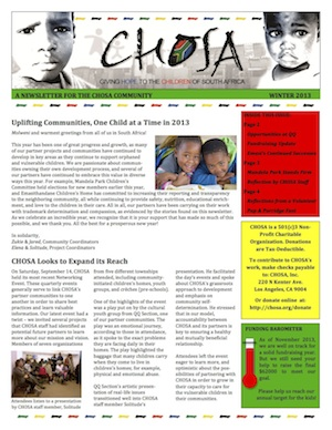 2013 CHOSA WinterNewsletter_Thumbnail